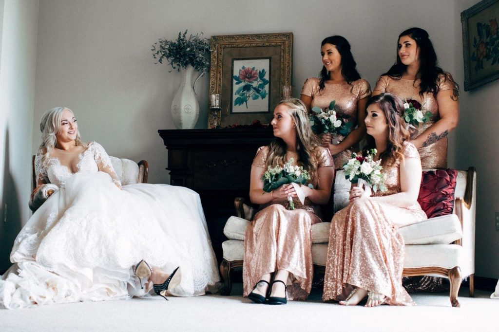 Bridesmaids at a wedding