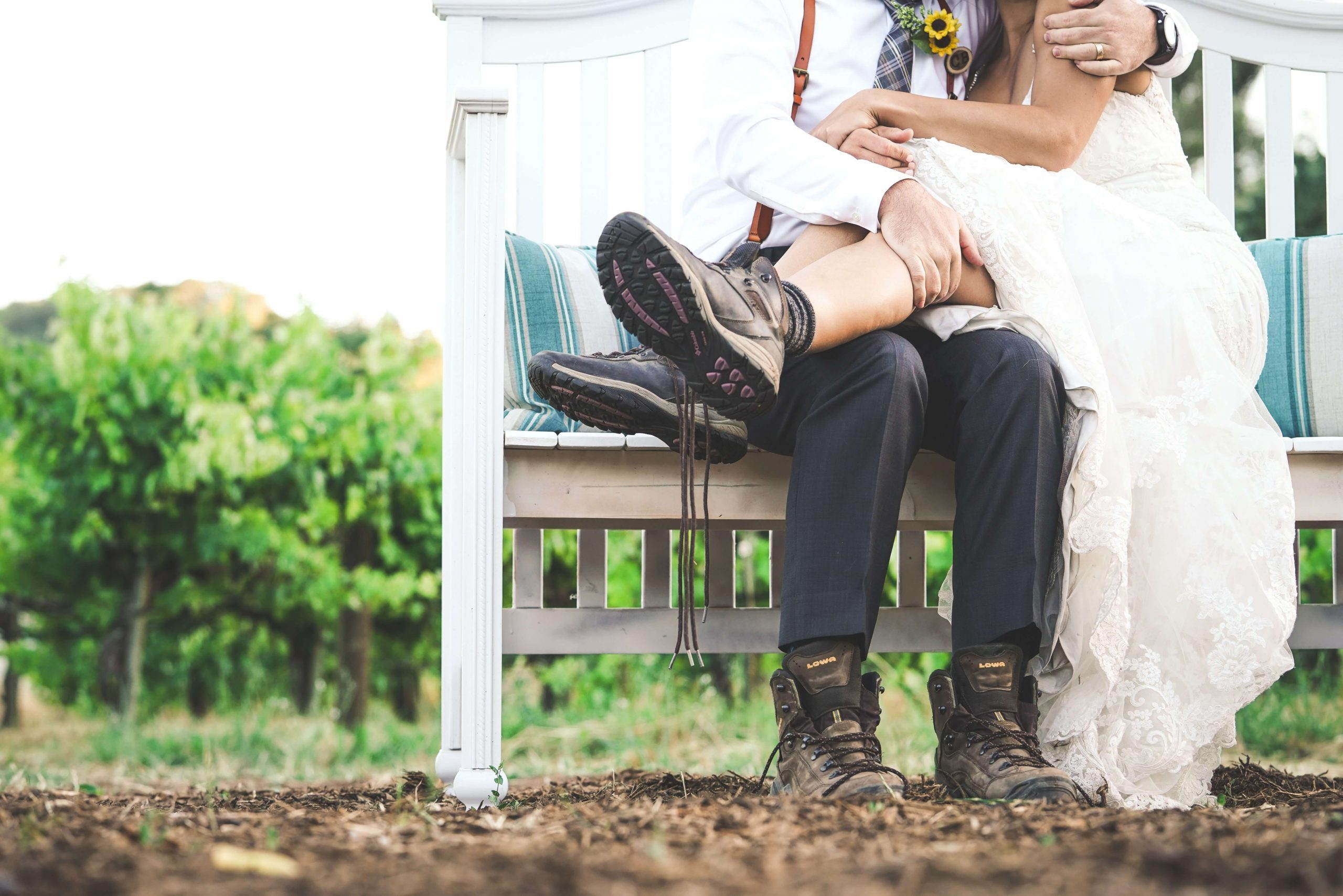 outdoor wedding on a budget muddy couple