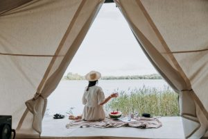 How to Celebrate a 50th Birthday Without a Party glamping